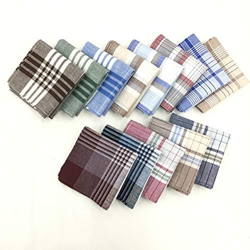 100% algodón para hombres Paquete de pañuelos 16 en x 16 en (40 cm x 40 cm)