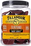 Tillamook Country Smoker All Natural, Real Hardwood Smoked Teriyaki Silver Dollar Jerky, 13.5 oz Jar