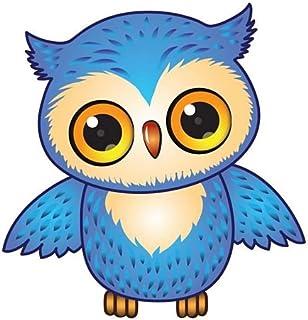FahnenMax Autoaufkleber Sticker Eule blau Aufkleber