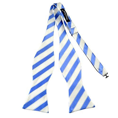 PenSee Nœud papillon en bleu et blanc à rayures Jacquard Tissé en soie cravates - - Taille Unique