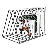 Jolitac Zeitungsständer Modern Zeitungshalter Schallplattenständer Magazinständer Bücherregal Zeitschriftensammler Vinyl-Schallplatten Halter Regal Stehsammler aus Metall 3 Farbe (Diamant Grau)