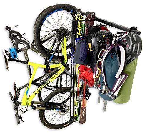 StoreYourBoard Ski, Bike, and Camping Wall Storage Rack | Ski Wall Mount Home & Garage Storage Hanger