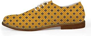 TecBillion Landscape Comfortable Leather Shoes for Men,US Size 8