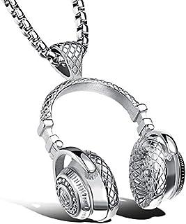 Apopo Fashion Stainless Steel Headphone Pendant Necklace...