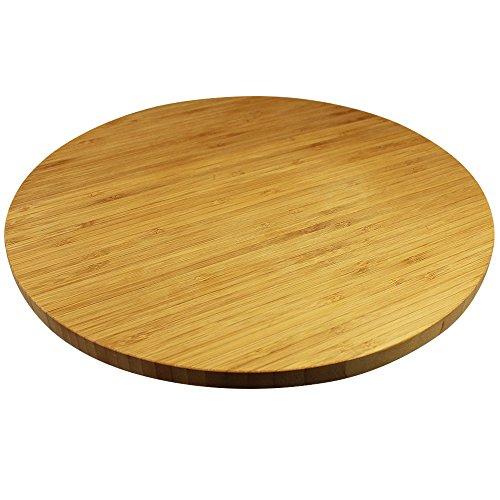 com-four® Belle table tournante en bambou, 35 cm, pour servir et servir
