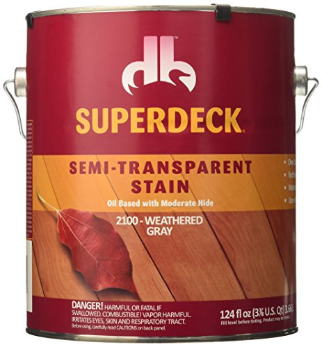 Duckback Products SC-2100-4 Superdeck Semi- Transparen Stain, Weathered Gray