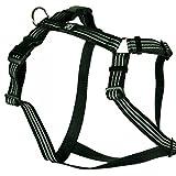 Feltmann Hundegeschirr - Soft-Nylonband Reflektierend schwarz, Bauchumfang 40-60 cm, 15 mm...