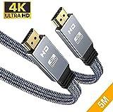 4K@60HZ HDMI Kabel 5Meter, Snowkids Flach HDMI 2.0 Kabel Highspeed 18Gbps HDCP 2.2 Nylon Geflochten...