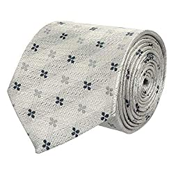 Wamson Stylish design Microfibre Formal and Party Wear Tie for mens