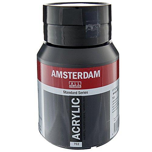 ターレンス アクリル絵具 アムステルダムアクリリックカラー ランプブラック T1772-702-2 500ml