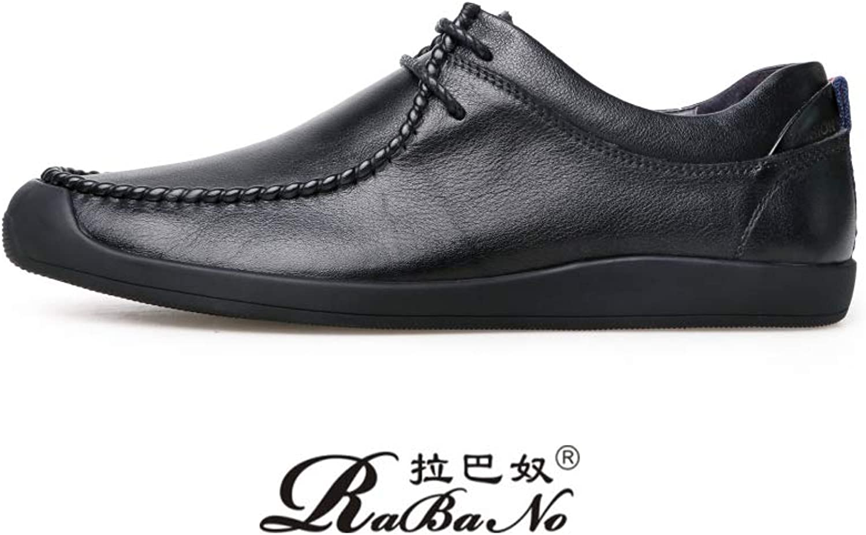Shoe House Herren-Gelegenheitsschuhe Herrenschuhe Flankiert Vorne Mit Weichem Boden Bequeme Mode Leder Herrenschuhe B07HW3DH8J  | Lass unsere Waren in die Welt gehen