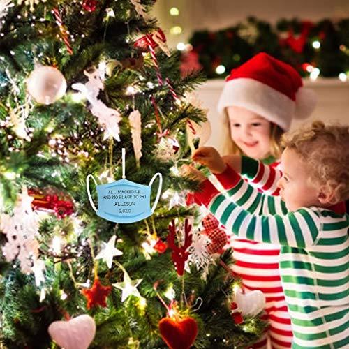jayotai 2020 Quarantine Survivor Family Customized Christmas Decorating Set Christmas Ornaments Set Toilet Paper,Owl Pattern Xmas Tree Hanging