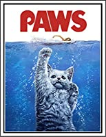 【FOX REPUBLIC】【海を泳ぐ猫 ねこ】 白マット紙(フレーム無し)A3サイズ
