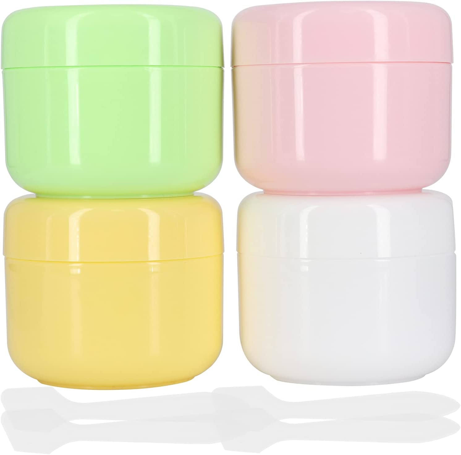 Cosmetic Jars with Leakproof Lids,50 gram Cosmetic Containers,Travel Cream Jars,TSA Approved Leakproof Refillable Empty Plastic Sample Jars,Travel Accessories,4 Pack