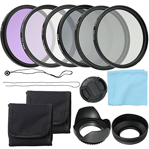 Andoer Professional Camera CPL FLD Lens Filters Kit and Altura Photo Neutral Density Filter Set Photography Accessories 58mm