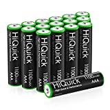 HiQuick 16 Counts Rechargeable Batteries AAA 1100mAh High Capacity Performance 1.2V, Per-Charged Ni-MH AAA Battery