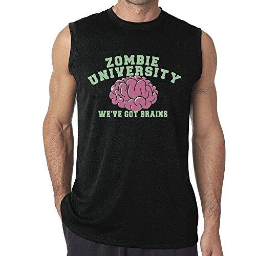 KLKLK Camiseta sin Mangas Zombies Eat Brains Mens Sleeveless