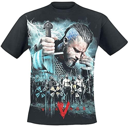 Spiral - Vikings - Battle - Camiseta - Negro - L