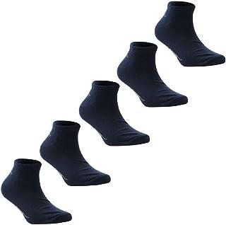 Slazenger 5 Pack Trainer Ankle Socks Navy Mens Size 7-11