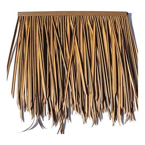 HOME-MJJ Azulejo de césped Falso Reed Palm Paja Rollo Paja Falsa Simulación Teja de Paja Protección del Medio Ambiente Paja de plástico PE Decoración con Techo de Paja (Color : Yellow e, Size : 4pcs)