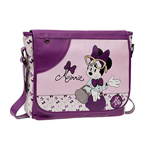 Disney Minnie Glam Sac Scolaire, 39 cm, 12,09 L, Rose