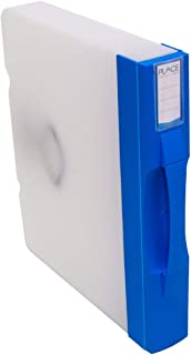 File Documents Plastic Storage Box with Handle, Snap-Lock Closure and Internal Spring-Clip Clamp.