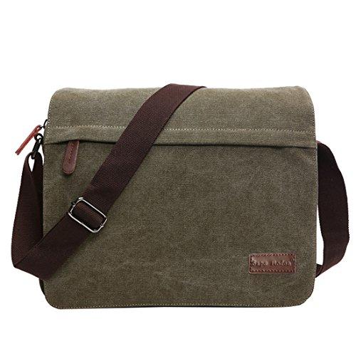 SUPA MODERN Umhängetasche Leinwand Messenger Bag Laptop Tasche Computer Tasche, 14 Zoll Umhängetasche aus Segeltuch Tasche Arbeiten Tasche Umhängetasche für Männer und Frauen by