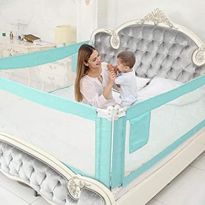 SURPCOS Bed Rails for Toddlers - Extra Long Baby Bed Rail Guard for Kids Twin, Double, Full-Size Queen & King Bed