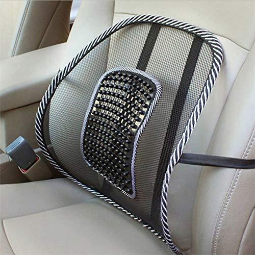 HERCHR - Cuscino in rete, per sedia da ufficio e schienale lombare con massaggio JMG, colore: nero
