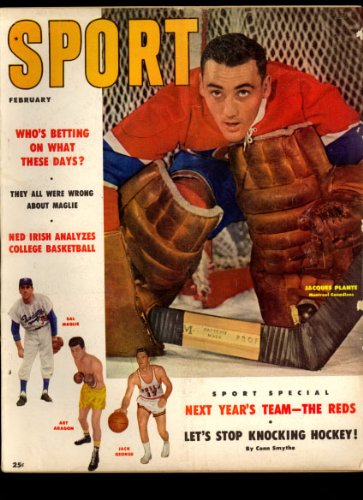 Sport Magazine February 1957 (Jacques Plante Montreal Canadians cover)