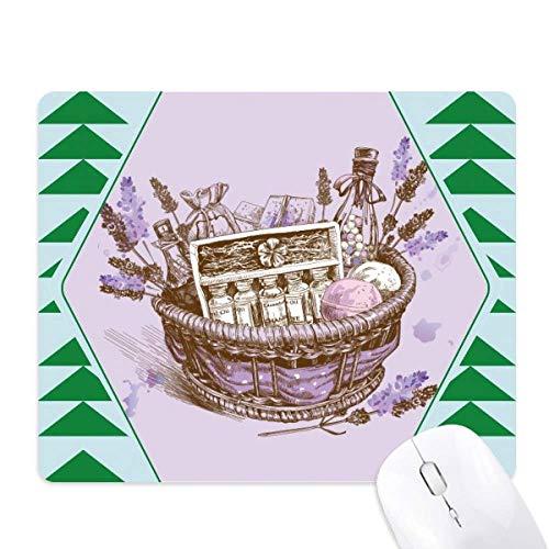 Bloemen Plant Schilderij Present lavendel Mand Muis Pad Groen Pijnboom Rubber Mat