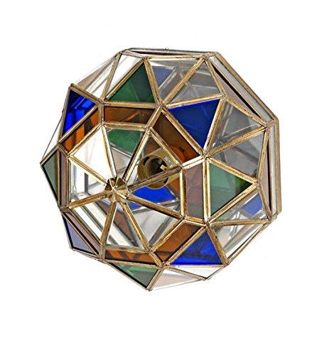 Plafon-Aplique Artesanal Granadino : Modelo AL-ANDALUS 609 de 30x19cms.