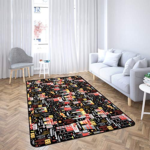 Industrial Area Rug Rugs for Living Room Bedroom 5'x7'