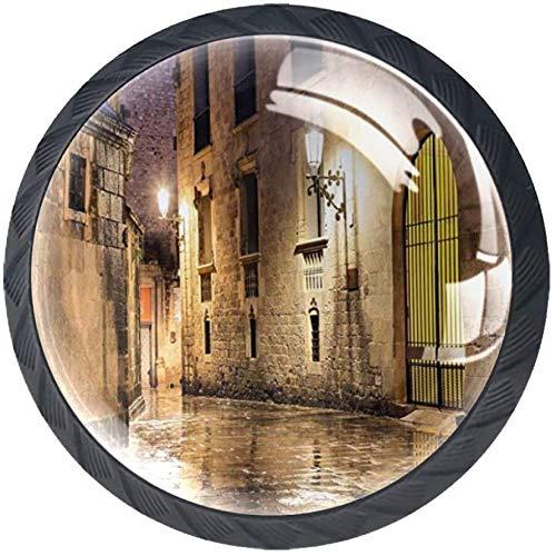 Pomo redondo para armario (4 unidades) – Roca gótica Barrio de Barcelona...