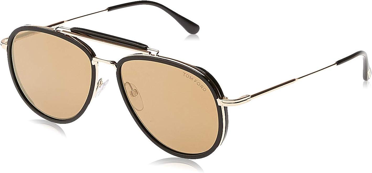 Sunglasses Tom Ford FT 0666 Tripp 01G shiny black/brown mirror
