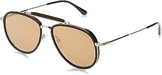 نظارات شمسية من توم فورد باطار ذهبي FT0666