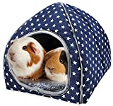 SUPJADE Guinea-Pig Rabbit Hedgehog Bed - Cave Cozy Hamster House Large Hideout for Chinchilla Bearded Dragon Winter Nest Guinea Pig Accessories
