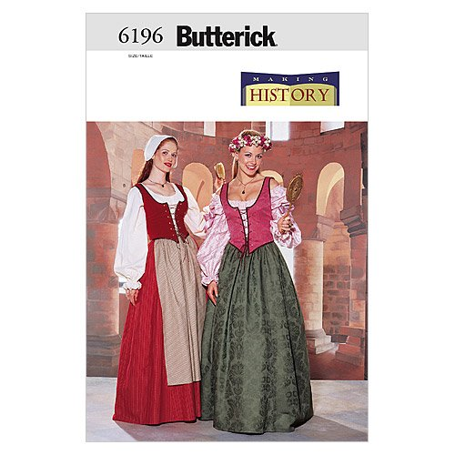 BUTTERICK PATTERNS B6196 Misses'/Misses' Petite Historical Costume, Size 18-20-22