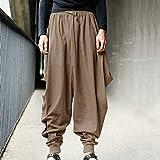 ZWH Ebay otoño y el Invierno 2020 Pantalones Casuales transfronterizas Pantalones harén Comercio Suelta y cómoda de los Hombres de los Pantalones Anchos de la Pierna de Hip-Hop