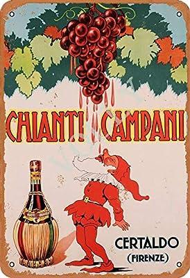 Blechschild 30 X 20 cm Chianti Campani Certaldo