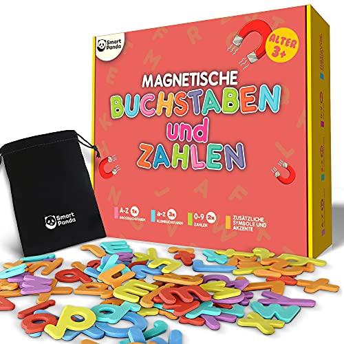 Magnetische Buchstaben und Zahlen für Kinder - Magnetisches Alphabet-Set - Kühlschrankmagneten für Kinder, ABC-Lernspiele für Kleinkinder zum Buchstabieren Lernen, Lesen und Phonetik üben