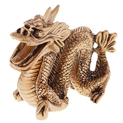 Hellery Estatua de La Estatuilla Del Dragón de La Geomancia Del Zodiaco Chino Artículo de Decoración de La Suerte Del Hogar