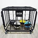 AKA Spors Ball Equpment Cart | Ball Storage for Soccer, Volleyball, Football | Ball Organizer | Ball Rack with Wheels | Capacity Over 25 Balls
