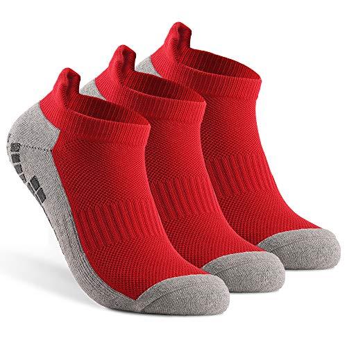 Kstyhome Anti-Rutsch-Fußball-Socken Sport-Söckchen Athletic Low-Cut-Socken Outdoor-Fitness Atmungsaktive Quick Dry-Socken Verschleißfeste Athletic-Socken rutschfeste Socken für