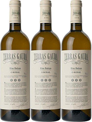 Vino Blanco Terras Gauda Albariño 750 ml - Pack de 6 botellas - 4500 ml