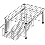 SHW Stackable Basket Drawer, Chrome