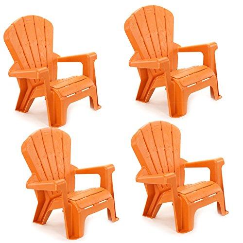 Little Tikes Garden Chair (4 Pack), Orange