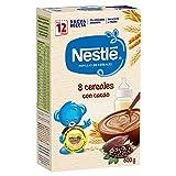 NESTLÉ Papilla 8 Cereales con Cacao - Alimento Para bebés - Paquete de 600g