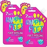 7DAYS Happy Feet Peeling Piedi Gel Esfoliante 2 pezzi Rimozione di Cellule Morte Pedicure Maschera per Piedi Riparazione Tallone Ruvido