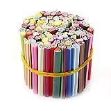 100 Pz Nail Art Sticks Disegni 3D Nail Art Nailart Manicure Fimo Canes Sticks Rods Stickers Gel punte